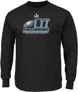 Philadelphia Eagles Black Super Bowl LII Champions Fanfare Big & Tall Long Sleeve T-Shirt