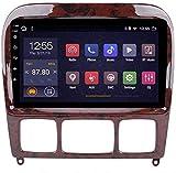 4cores Android 8.1 GPS Radio automóvil navegación, Pantalla táctil 9'TV estéreo, para Mercedes Benz Classe S W220 1998-2005, con Control Volantes BT Mirror Link, 4G + WIFI1G + 16G