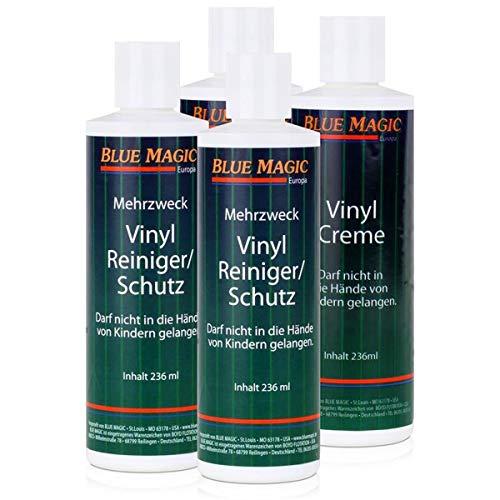 4 tlg. Set Blue Magic 2 Reiniger/2 Creme, Wasserbett, Pflegemittel