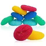C-lean House Raschietto per pentole in plastica di alta qualità - in un set da 10 - La spugna raschiante per una migliore pulizia in cucina