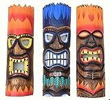 3 Piezas Tiki Fuego Máscaras 50cm Im Hawai Mares Del Sur Buscar Máscara de Pared