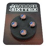 Garage-SixtySix 4 Ventilkappen USA in Schwarzchrom/Modell: Detroit