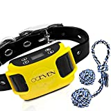 OCEVEN GPS Wireless Dog Fence System, In-ground/Aboveground Pet Containment System, IP67 Waterproof&Rechargeable Collar, Vibration&Tone Correction, Distance Adjustment 20-800M (Yellow)
