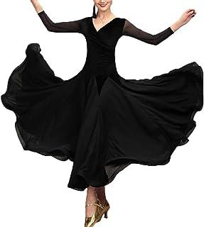 f14d7aea736 WQWLF Tenue Nationale de Danse de Salon Standard pour Femme  Performance Compétition Tango Valse Robes