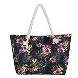 Grande borsa da spiaggia idrorepellente con cerniera Borsa a tracolla Shopper Tropical Retro