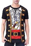 COSAVOROCK Herren Übergröße Piraten Kostüm T-Shirts (3XL, Piraten 2)