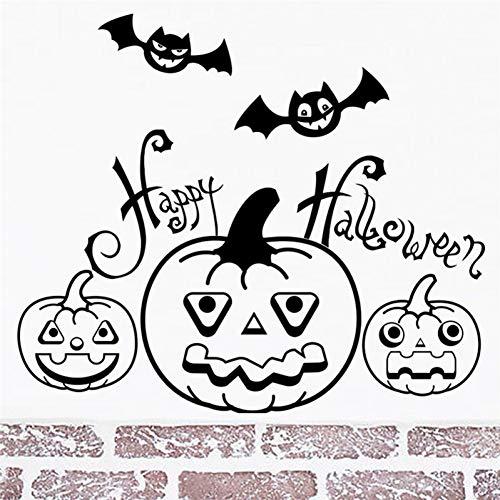 CSCZL Cartoon Kürbis Halloween Wandtattoos Schlafzimmer Kinderzimmer Wohnkultur 20 * 30cm Wandaufkleber DIY Wallpaper Vinyl Wandkunst