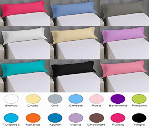 Confort Home M.T (150 Gris) Funda Almohada Lisa Verano para Todas Las Medidas 50% Algodón 50% Microfibra. Fácil Lavado, Planchado y duraderas (150, Gris)