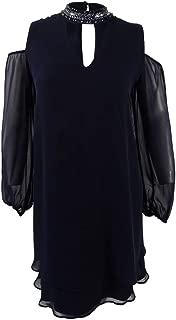 Xscape X Women's Petite Cold-Shoulder Choker Shift Dress