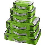 G4Free スーツケース アレンジケース 6点セット オーガナイザー トラベル ポーチ 整理整頓 インナーバッグ 出張 旅行 パッキングキューブ 4色 (グリーン)