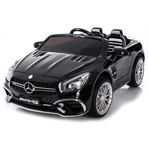 giordanoshop Macchina Elettrica per Bambini 12V MP4 Mercedes SL65 AMG Nera