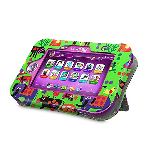 Fintie Case Compatible with LeapPad Ultimate - Kids Friendly [Hands Free] Dual Viewing Angle Premium Stand Cover for 7-Inch Leapfrog LeapPad Ultimate Ready for School Tablet, Zoo