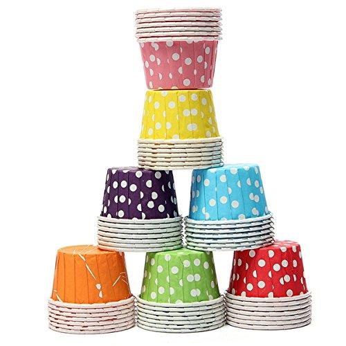 Bluelover 100 Pièces Papier Cupcake, Muffin Liner Papier Cas Ingraissables Cuisson Tasses-Rose