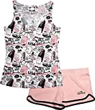 The Simpsons Damen Retro-Pyjama-Set mit kurzen Ärmeln Gr. XL, rose