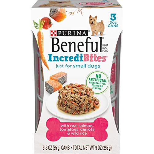 Price comparison product image Purina Beneful Small Breed Wet Dog Food,  IncrediBites With Salmon - (8 Packs of 3) 3 oz. Cans