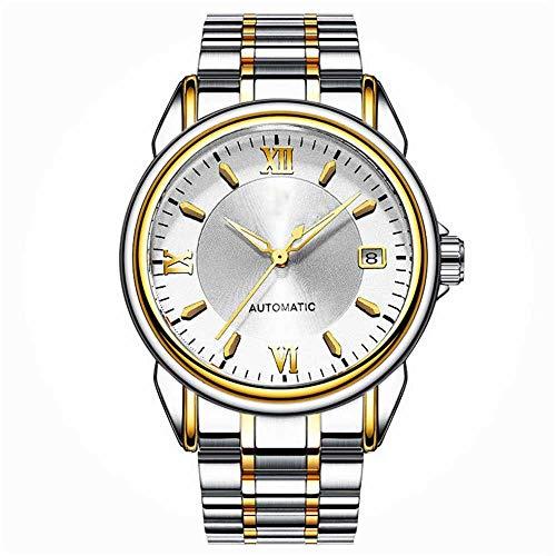 Hongxiguan Luxe gouden horloge voor mannen, automatische mechanisch horloge, authentiek roestvrij staal, waterdicht