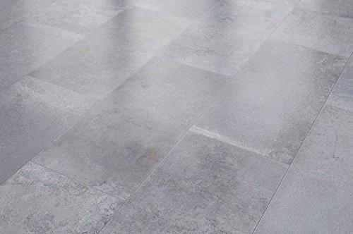 VisioGrande Laminat Autentico Fliese Zementestrich Grau 8 mm