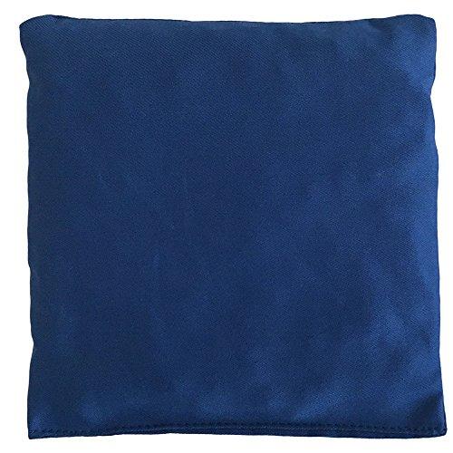 Rapssamenkissen 12x12cm - Bio Stoff enzianblau - Wärmekissen & Kältekissen - Körnerkissen