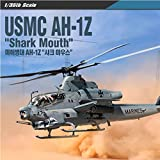 Academy 12127 1:35 Scale USMC US Marine Corps AH-1A Shark Mouth Plamodel Plastic Hobby Model Helicopter Airplane Kit Toy (Paint Not Included)