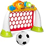 Chicco Goal League Pro, Portería de Fútbol para Niños, Juego Electrónico e Interactivo, Marcador con Luces y Sonidos, 3 Modos de Juego, Balón...