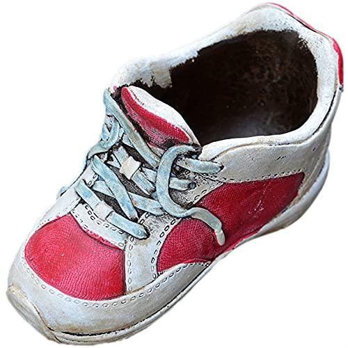 DENGZH Maceta de jardín Suculents Zapatos en macetas Cemento Suculents Zapatos Florales Retro Personalidad Antigua Creativa PUL (Color : Red)