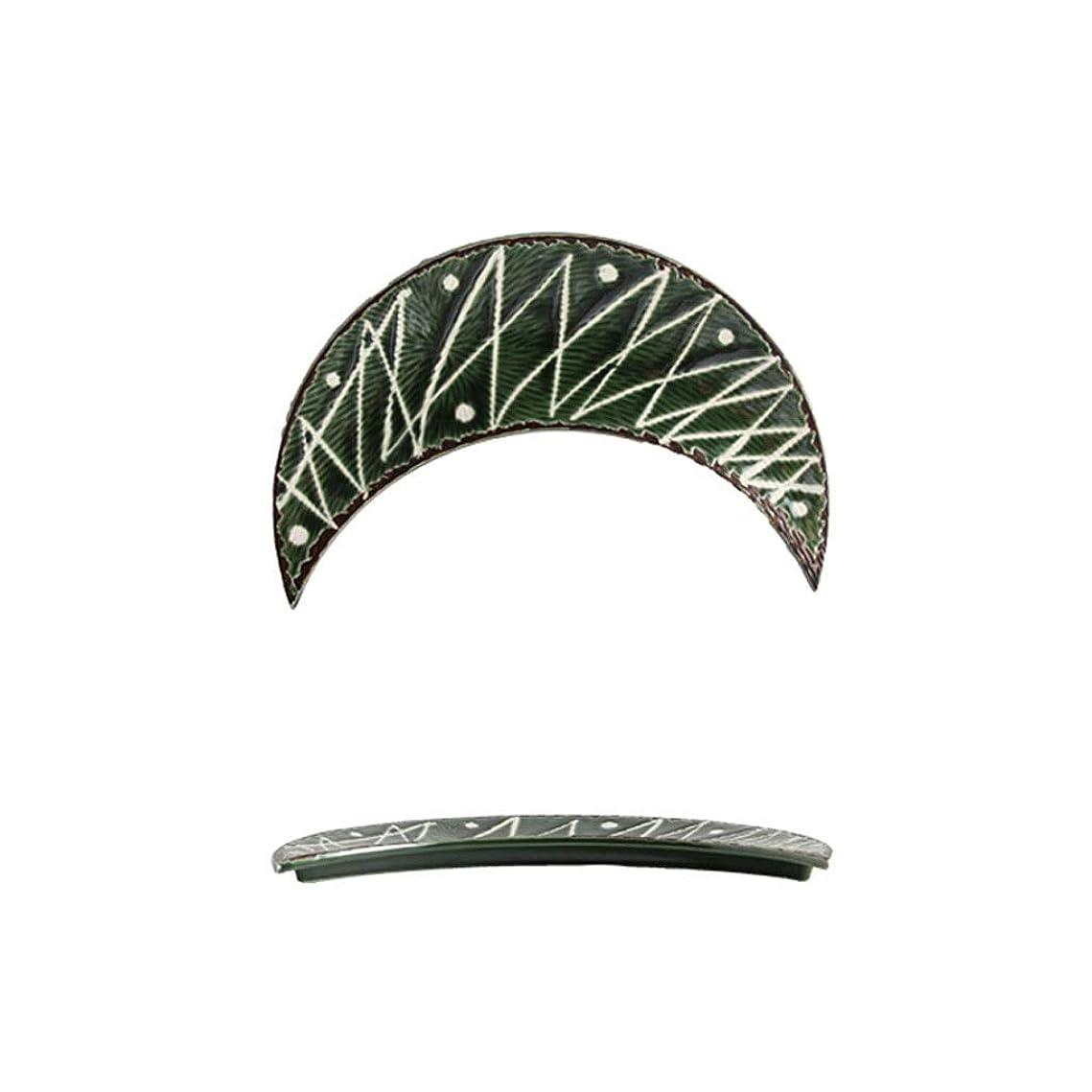 他の日マサッチョアブストラクトLXX-プレート 環境に優しい家の陶磁器の刺身料理、党のための寿司/軽食の月の版 (Color : F, サイズ : 27x10.5x4cm)