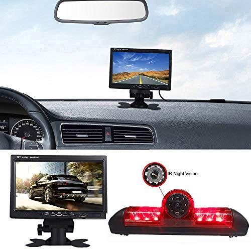 【Kit caméra de stationnement】 Moniteur de oiture à écran LCD TFT 7 Pouces + HD Vision Nocturne IR Feu de Freinage Caméra de recul pour Fiat Ducato X250 Peugeot Boxter Citroen Jumper Dodge