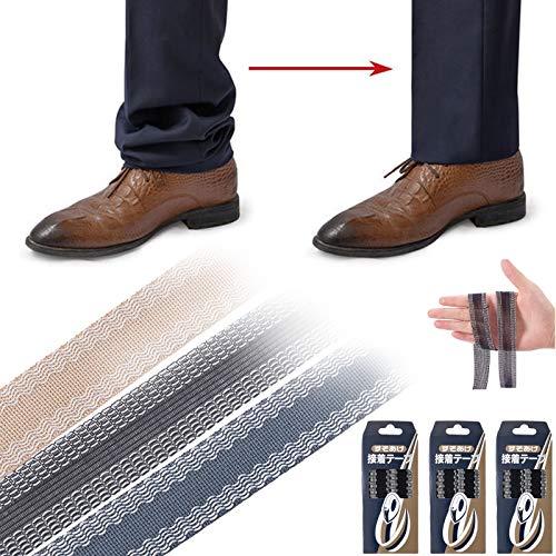 パンツエッジショート、3.9ヤード粘着ヘムテープ、3色のアイロンヘミングテープ、ズボンと一般的なカジュアルパンツのヘムトリミング用