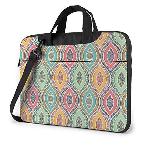 XCNGG Borsa per laptop in stile etnico Mandala Eye Borsa antiurto per tablet Borsa per viaggio d'affari da 15,6 pollici