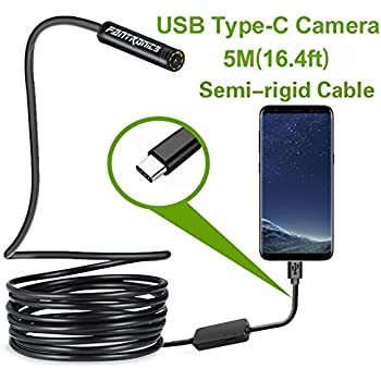 11.5 ft 1200P HD Wireless Endoscope Anti-interference Semi-rigid Borescope Snake Inspection Camera 2.0 Megapixels for IOS iPhone Android Smartphone Ipad PC