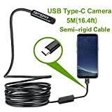Best Android Camera Phones - Fantronics 5 Meter(16.4ft)Rigid Cable USB C Endoscope Type Review