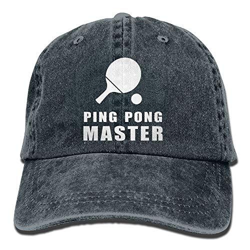 Ping Pong Master Adult Denim Dad Solid Gorra De Béisbol Sombrero Azul Marino