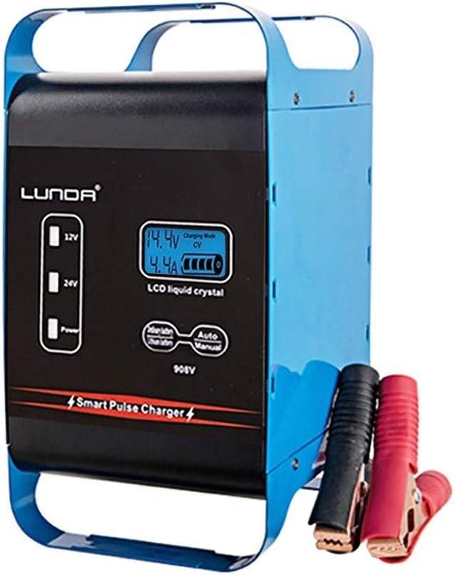 Arrancador De Coches 12V 40A 24V 20Amp totalmente cargador de batería de batería automático Mantenedor, moto Auto Fuente de alimentación Arrancador De Baterias (Color : 1)