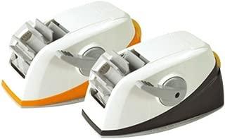 3M Desktop Dual_2 Acrylic Sticky Tape Dispenser Core, Self_Auto Cutter Tape Holder (Orange)