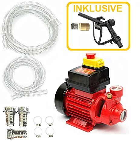 600 Watt starke Ölpumpe mit Rückschlagventil und 35 Liter Förderleistung pro Minute