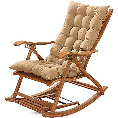 Cojín sillón reclinable, Universal Mecedora Largo Estaciones Cuatro Engrosamiento cojín de la Silla Plegable Cojín (Size : 18.8x59inch)