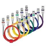 Neewer 6-Pack Multi-Color XLR Cables Parche Cable de Micrófono Audio Cables-XLR Macho a Cable XLR...