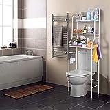 Nyana Home | Estantería de Baño sobre Inodoro | 3 Alturas | Soporte para Papel...