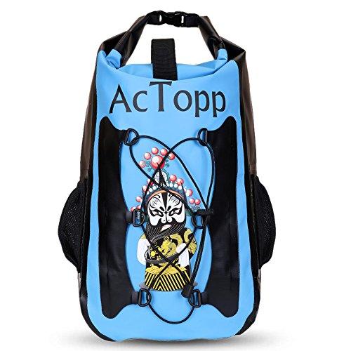 AcTopp Dry Bag Zaino Stagno 35L Sacca Impermeabile Borsa in PVC per Attività all'Aperto ,Sport d'Acqua,Pesca,Nuoto,CampeggioColore Blu