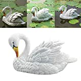 Ywoow Bubble Crocodile, Decoy Floating White Swan Resin Simulation for Landscape Gardening Decoration,Water Simulation swan