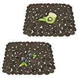 Qulable Kitchen Sink Mat For Stainless Steel/Ceramic Sinks. PVC Eco-Friendly Sink Mat, Adjustable, Fast Draining, Dish Drying Mats 11.8