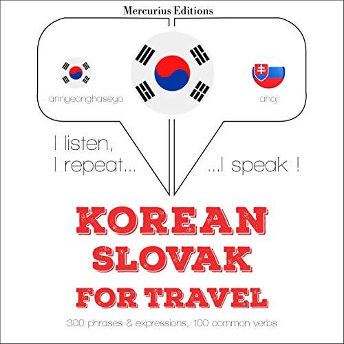 Korean – Slovak. For travel cover art