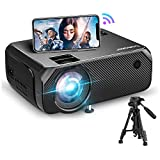 Bomaker Wi-Fi Mini Projector, 150 ANSI Lumen Portable Projector, Native 1280x720P Outdoor Movie Projector, 1080P Full HD Supported, Wireless Mirroring, for iPhone/Android/PCs/Laptops/Windows