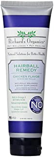 Richard's Organics Hairball Remedy – Chicken Flavor - Naturally Eliminates and Prevents Hairballs in Cats – Promotes Healt...