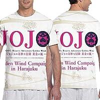 ジョジョの奇妙な冒険10 (3) メンズ 半袖 夏服 Tシャツ おしゃれ 3d プリント はワンマンデザイ Tシャツ日常用 メンズ スタイリッシュな 吸水速乾 シンプル おしゃれ シンプル 無地 半袖 通勤 通学 運動 ティーシャツ