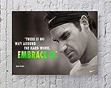 MeiMeiZ Roger Federer Poster Standardgröße | 45,7 x 61 cm
