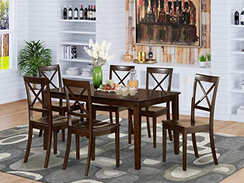 Harbour Housewares Compact Dining Table and Chairs Set Small Modern 2 Person Wooden Kitchen Furniture Set Metal Frame