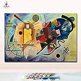 Arte Mural Pinturas De Bricolaje Para Colorear Imágenes Por Números En Lienzo Kandinsky Abstracto Seaside Sail Artwork Hecho A Mano Para Decoración De Hoom- Sailboat_X Sin Marco