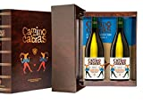 CAMINO DE CABRAS Estuche regalo - vino blanco - Godello D.O. Valdeorras - 2 botellas x 75cl - Producto Gourmet - Vino bueno para regalo - Vino Premium - Alcohol 13% vol