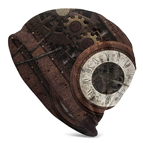 Beanie Hat Relojes Gears Hombres Mujeres Sombreros Antideslizante Absorción del Sudor Gorra de Calavera Se Adapta a la mayoría de la Cabeza Invierno Verano Hip Hop Street Caps Negro